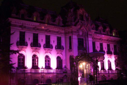 Iluminare în roz 2002 - Casa George Enescu