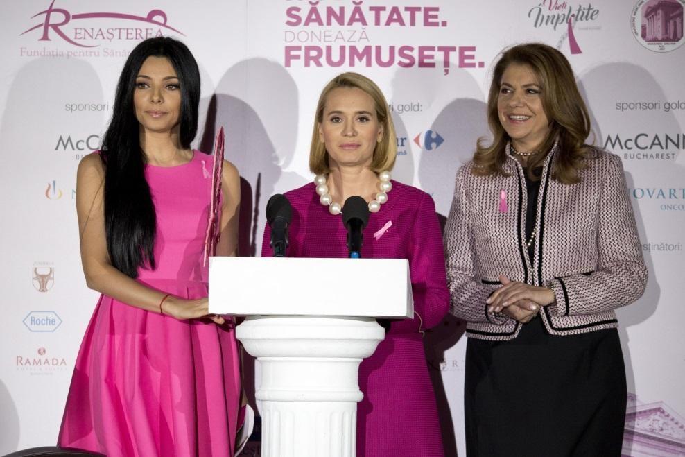Corina Caragea, Andreea Esca și Mihaela Geoană